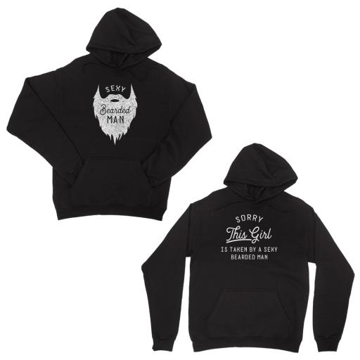 a733312dbc Taken By Sexy Bearded Man Black Couple Hoodies For Valentine's Day. by 365  Printing