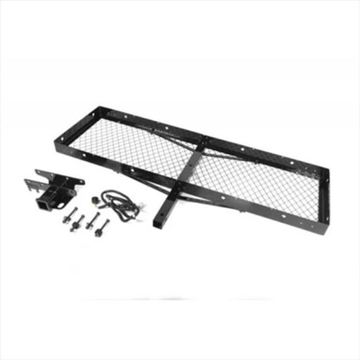 Rugged Ridge 11580.20 Receiver Hitch With Cargo Rack For 07-14 Jeep Wrangler JK