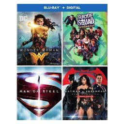 Dc 4-film collection-wonder w/suicide s/batman v s/man of s (blu-ray) BR692965