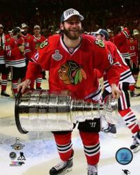 Brandon Saad with the Stanley Cup Game 6 of the 2015 Stanley Cup Finals Sports Photo PFSAASB13401