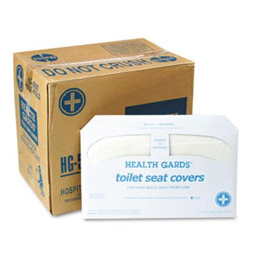 Hospital Specialty Co. HG-5000CT Health Gards Toilet Seat Covers- White- 250 Covers/Pack- 20 Packs/Carton