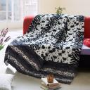 Onitiva - Tasteful Life -C Patchwork Throw Blanket (86.6 by 63 inches)