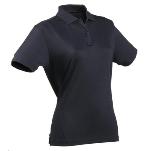 24-7 Womens Tactical Polo Shirt, Navy Blue thumbnail