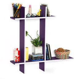 Violet Love-BLeather Cross Type Shelve / Book Shelve / Floating Shelve (4 pcs)
