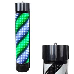 """35"""" Semicircle ABS Green LED Barber Pole Light Wall-Mounted Hair Beauty Salon Shop Sign Hotel"""