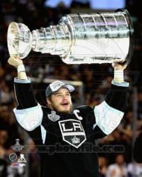 Dustin Brown with the Stanley Cup Game 5 of the 2014 Stanley Cup Finals Sports Photo PFSAAQZ04801
