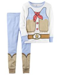 Carter's Baby Girls' 2-Piece Cowgirl Snug Fit Cotton PJs, 18 Months