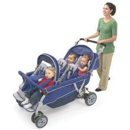 Angeles AFB6700 SureStop Folding Commercial Bye-Bye Stroller 6-Passenger