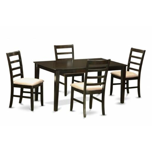 East West Furniture CAPF5-CAP-C 5 Piece Dining Table Set For 4- Dining Table and 4 Dining Chairs