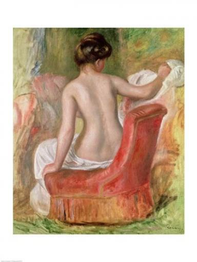 Nude in an Armchair, 1900 Poster Print by Pierre-Auguste Renoir YJWQKPKR5QB2XMG8