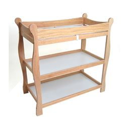 Badger Basket Co Natural Sleigh Style Changing Table