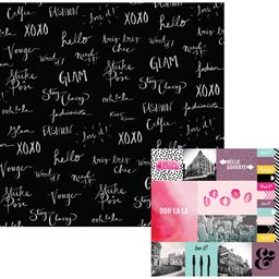 American Craft We R Memory Keepers Urban Chic Collection 12 X 12 Double Sided Paper Tres Tres Chic