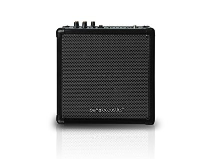 Wireless Portable Bluetooth PA Speaker System with Built-in Rechargeable Battery-Color-Black
