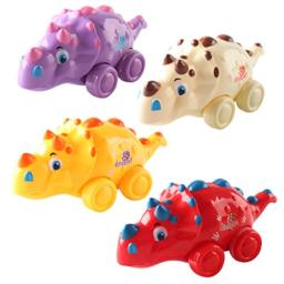 Anika's Crafts Push and Go Friction Powered Toys for Boys and Toddler, Set of 3 Dinosaur Set