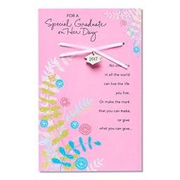 American Greetings Special Graduate Graduation Card for Her with Keepsake Charm