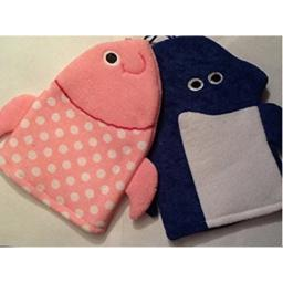 Greenbrier Dolphin and Fish Wash Mitts - Bath Puppets