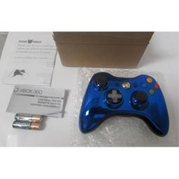 Microsoft Xbox 360 Special Edition Chrome Series Wireless Controller - Blue