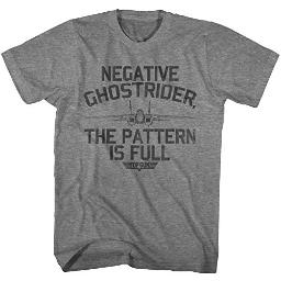 Top Gun 1980's Military Action Movie Negative Ghostrider Pattern is Full T-Shirt Gray