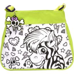 Wild Republic Zebra & Lion Do-It-Your-Own Purse, Gifts for Kids 12 Inches