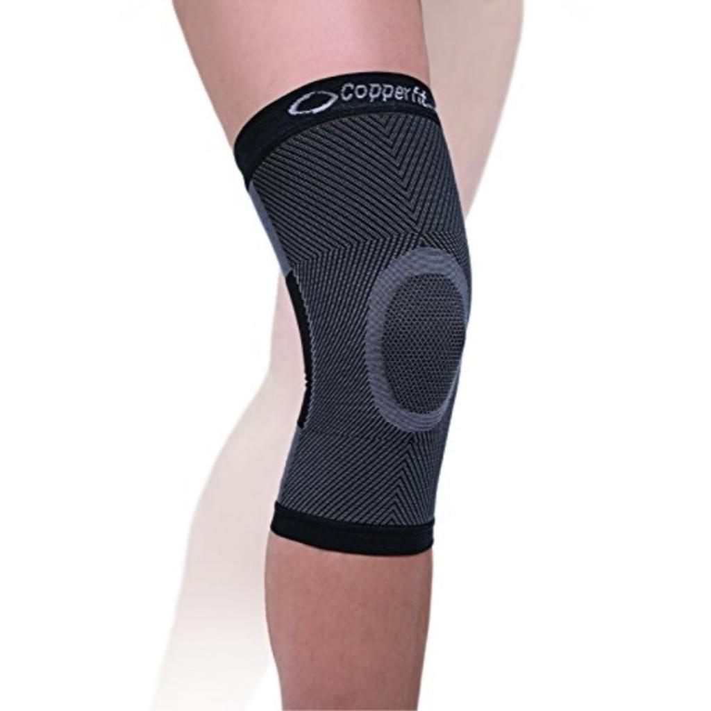 Copper Fit Advanced Support Knee Sleeve, Black, Large