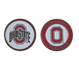 Ohio State Golf Double Sided Ball Single Marker Only