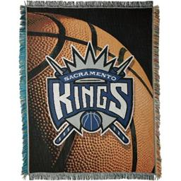"""Officially Licensed NBA Sacramento Kings Photo Real Woven Tapestry Throw Blanket, 48"""" x 60"""", Multi Color"""