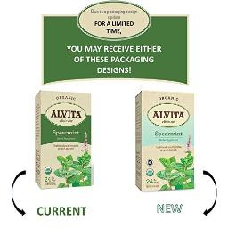 Alvita Spearmint Organic Tea Bags 24 ea 1.42 oz