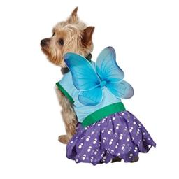 Casual Canine Polyester Woodland Fairy Dog Costume, X-Small, 8-Inch, Blue