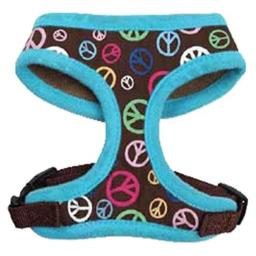 East Side Collection Peace Out Pet Harness, Large, Raspberry