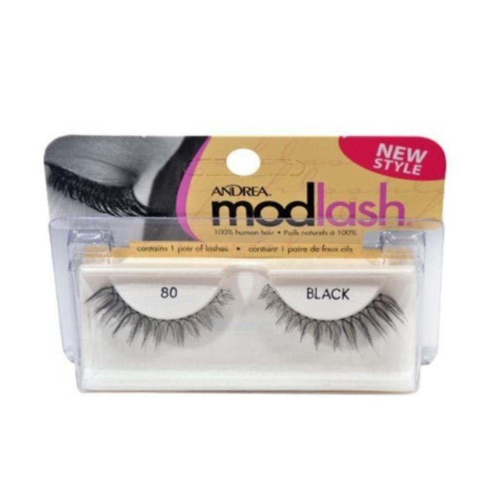 Andrea False Eyelashes Strip Lash Style 80, Black
