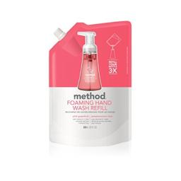 Method Naturally Derived Foaming Hand Soap Refill, Pink Grapefruit, 28 Ounce