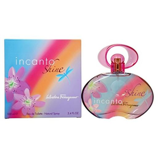 Salvatore Ferragamo Incanto Shine - 3.4 Ounce - EDT Spray - For Women Original and 100% authentic Salvatore Ferragamo Incanto Shine women perfume by Salvatore Ferragamo Eau De Toilette Spray 3.4 oz*Packaging for this product may vary from that shown in the image above.