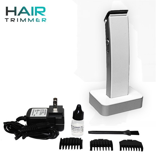 Unisex Compact Modern Beard and Body Hair Clipper Kit Nose-Hair Trimmer Maximum Comfort with Charging Dock and Accessories (White)