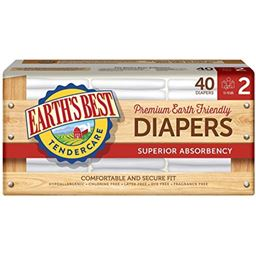 Earth's Best Diapers - Size 2 - 40 ct