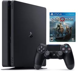 PlayStation 4 Slim 1TB PS4 Hits Bundle+(God Of War,GT Sport ,Uncharted 4,3 Mont)