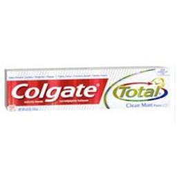 Colgate Total Anticavity Fluoride and Antigingivitis Toothpaste, Clean Mint 6 ounces (Pack of 3)