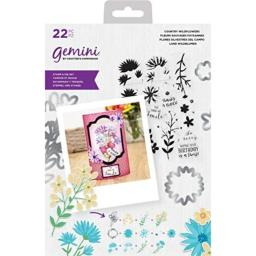 Crafter'S Companion Gemini Layering Stamps & Dies-Floral