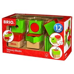 Brio 30436 Sensory Blocks | 6 Piece Preschool Toy for Kids Ages 18 Months and Up