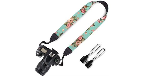 Elvam Universal Men and Women Camera Strap Belt Compatible for All DSLR Camera SLR Camera Instant Camera and Digital Camera - Green Vintage Flower... Elvam Universal Men and Women Camera Strap Belt Compatible for All DSLR Camera SLR Camera Instant Camera and Digital Camera - Green Vintage Flower Floral
