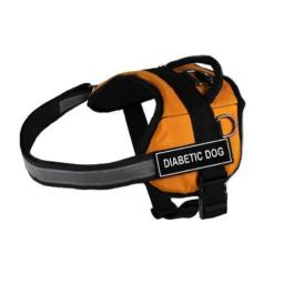 Dean & Tyler Works Diabetic Dog Pet Harness, X-Small, Fits Girth Size: 21 to 26-Inch, Orange/Black