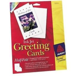 Avery 03265 20 Count 5.5 in. x 8.5 in. Ink Jet Blank Greeting Cards