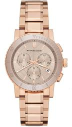 Burberry BU9703 The City 38MM Women's Chronograph Rose-Tone Stainless Steel Watch