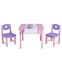 Kids Art Table and 2 Chairs Set