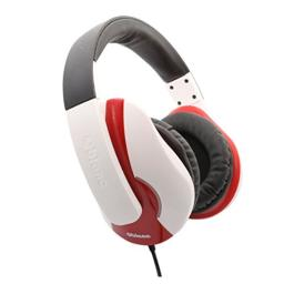 Oblanc OG-AUD63046 NC3 On-Ear Stereo Headphone with In-line Microphone - White/Red