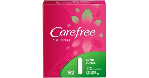 Carefree Original pantiliners, unscented, Long, 92Count Carefree Original long unscented pantiliners double pack, medium protection.
