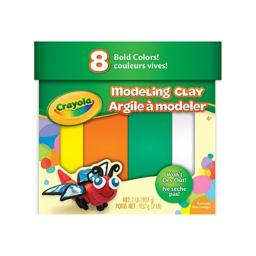 Crayola 8 Bold Colors, 2 Lb. Non-Toxic Art Tool for Kids 4 & Up, Traditional Modeling Clay, Multicolor