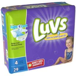 Luvs Size 4 Ultra Leakguards Diaper - 29 per pack - 4 packs per case.