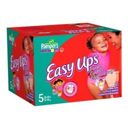 Pampers Easy Ups Trainers for Girls, Size 3T-4T, 80 Count