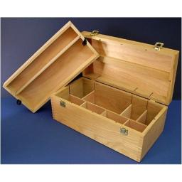 "Art Alternatives Wood Box Supply Chest,Brown,16-1/8""x8""x5-7/8"""