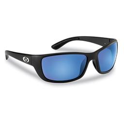 Flying Fisherman Cay Sal Polarized Sunglasses with AcuTint UV Blocker for Fishing and Outdoor Sports, Matte Black Frames/Smoke-Blue Mirror Lenses